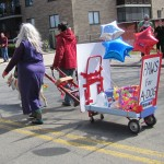 The festive Cart carries water and other supplies