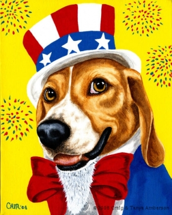uncle_sam_s_dog___beagle_painting__513bff537f90e41a0b65cfe6e7e05531